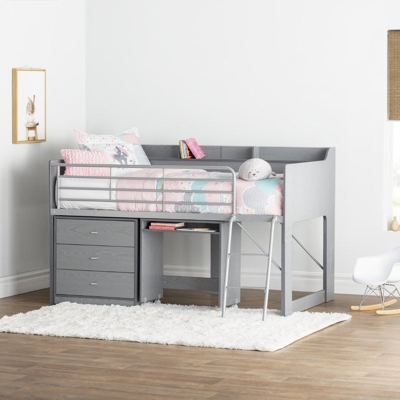 Alcester Twin Low Loft Bed With Drawers Low Loft Beds Loft Bed