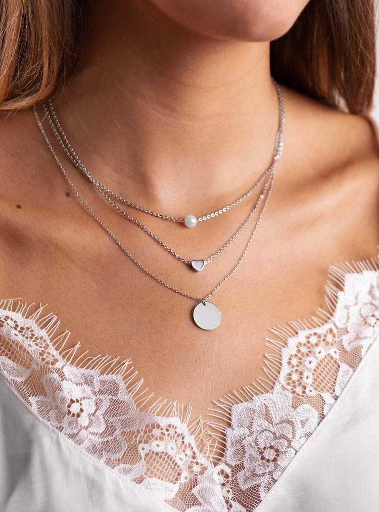 watch e565b efb0f Coin Necklace Silver | Birthday 19 | Coin necklace, Silver ...