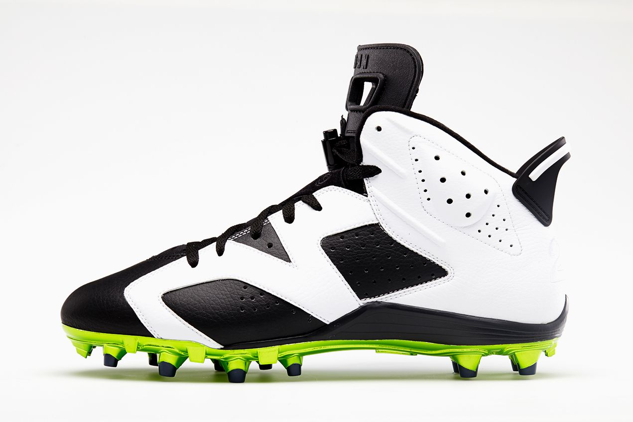 27398cea95ee Air Jordan VI Postseason Cleats for Earl Thomas   Michael Crabtree ...