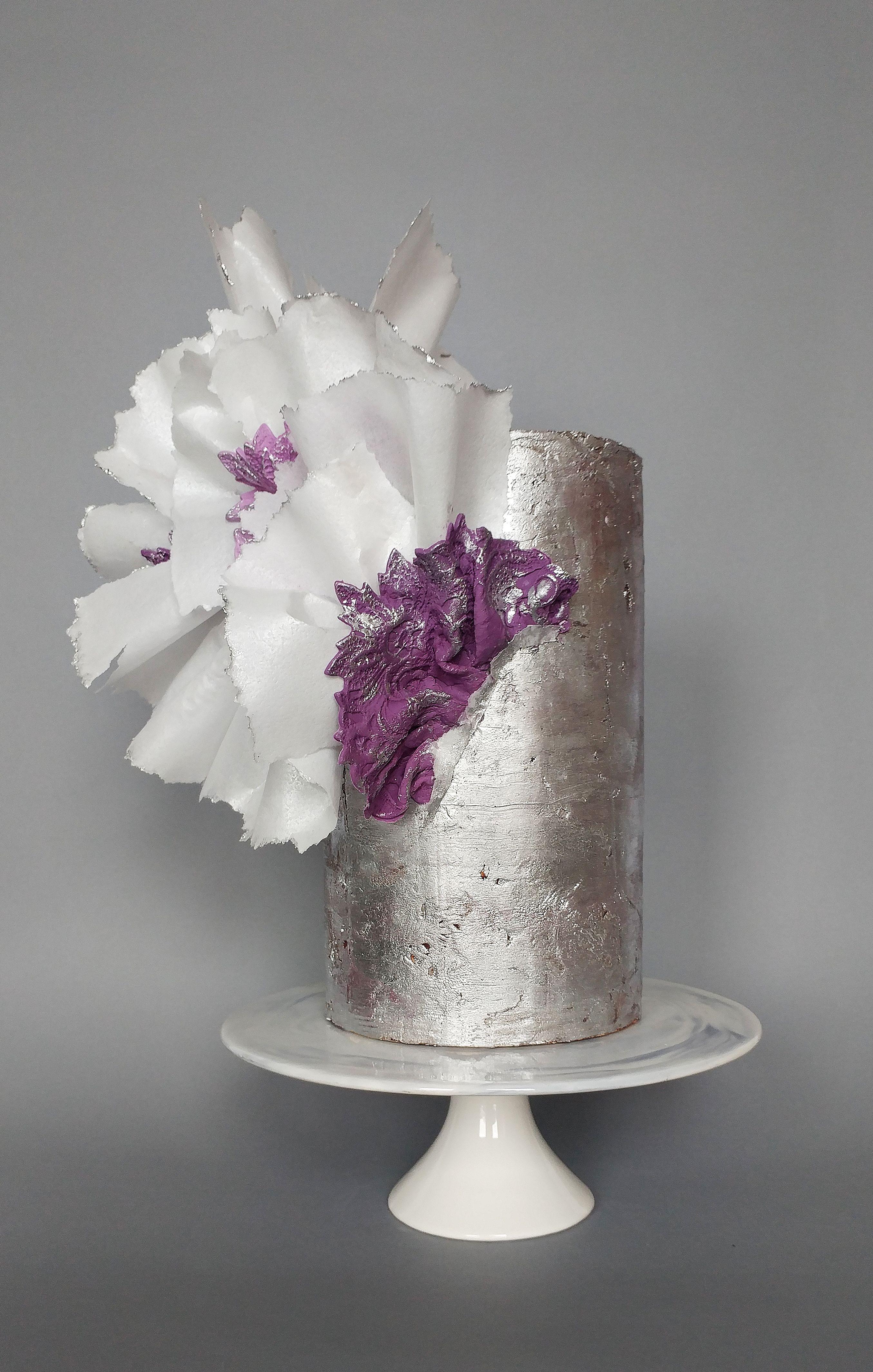 Silver wedding cake lima cakes silver sparkle wedding in