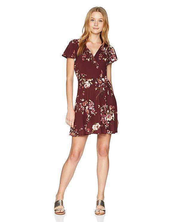 552d7c379 Amazon.com: A. Byer Women's Junior's Short Surplice Bodice Knit Dress:  Gateway