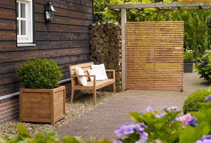 Vintage Paravent Garten innovative und kreative Gartengestaltung erschaffen