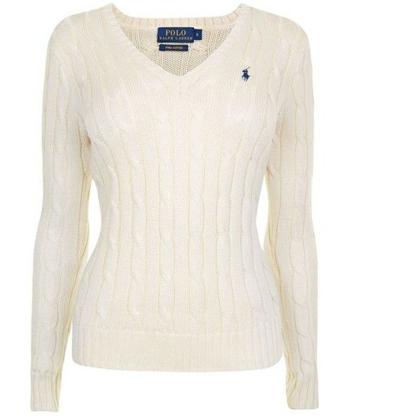 Polo Ralph Lauren Cable Cotton Knit Jumper ($140) ❤ liked on ...