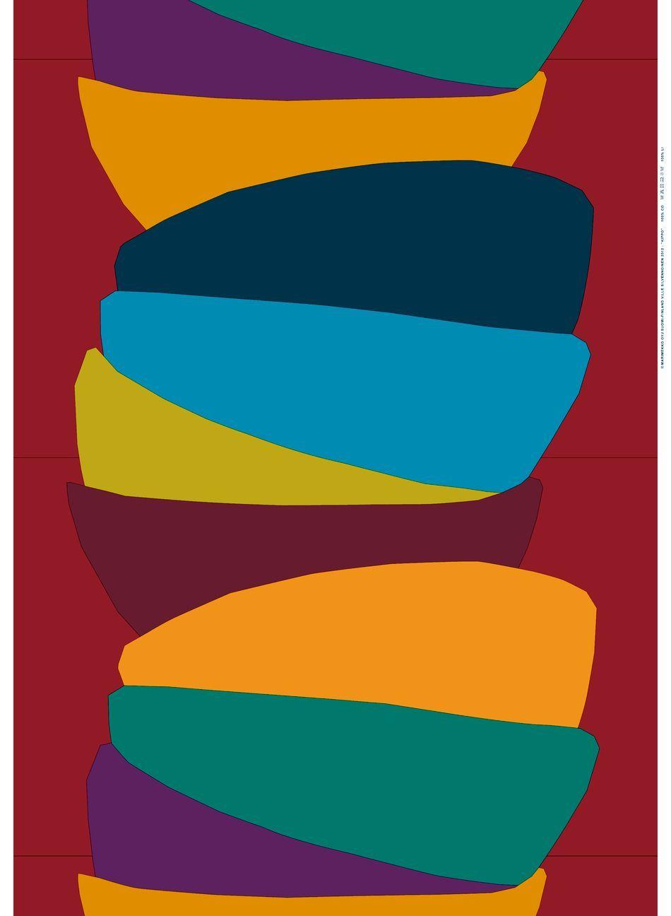 Kippo -paksu puuvilla (punainen, vihreä, sininen) |Kankaat, Puuvillakankaat | Marimekko