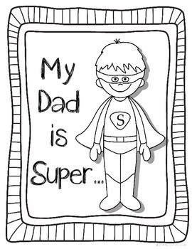 Use These Pages To Help Students Make A Quick And Cute Father S Day Card Has A Cover Diagram Sheet And F Fathers Day Coloring Page Dad Crafts Fathers Day Art