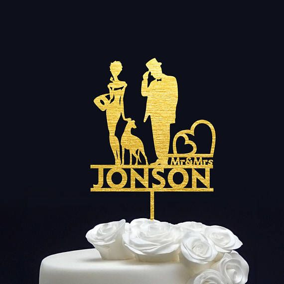 Customized Wedding Cake Topper Mr and Mrs date // custom name ...