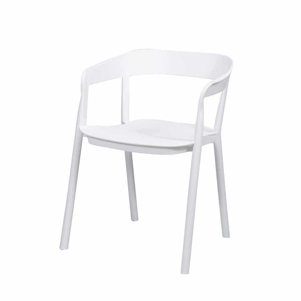 Stapelstuhl Set in Weiß Kunststoff (4er Set) Jetzt bestellen unter ...