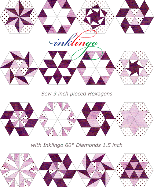 1000+ images about Quilts with Diamonds & Hexagons on Pinterest ...