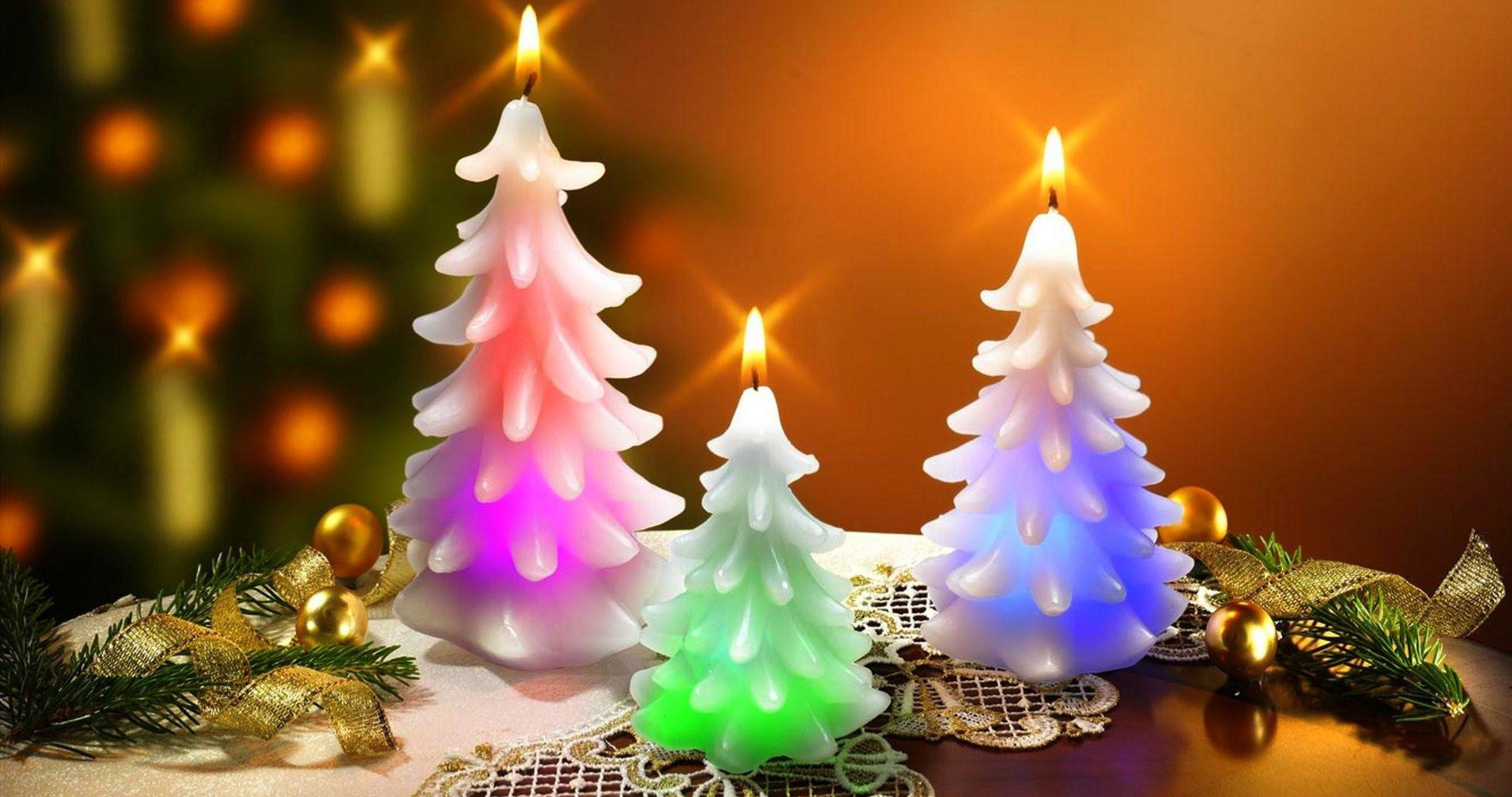 New Year Christmas Candle 4k Ultra Hd Wallpaper Candles Wallpaper Christmas Tree Candles Candles