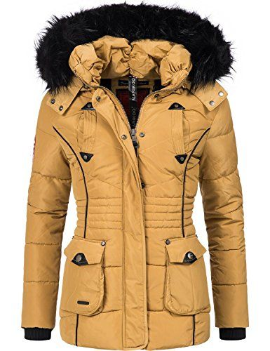 Marikoo Damen Winter Jacke Steppjacke Vanilla (vegan herg
