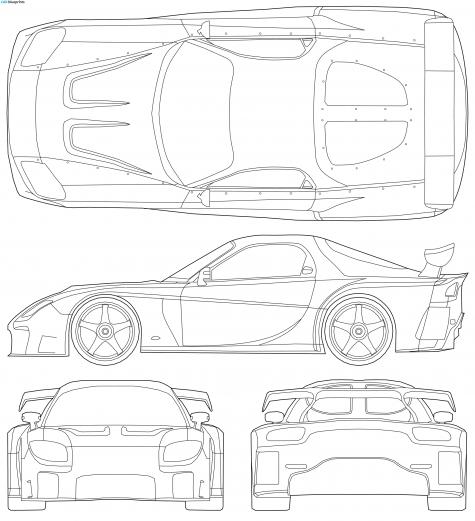 2007 Mazda RX-7 Veilside Fortune Tokyo Drift Coupe