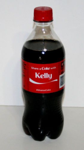 Share a Coke with Kelly 20 fl oz Collectible Bottle Rare Unopened Coca-Cola
