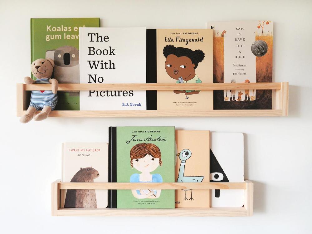 Wall Bookshelf For Children Flat Peg Pine Wood Kids Etsy Bookshelves Kids Wall Bookshelves Kids Nursery Bookshelf