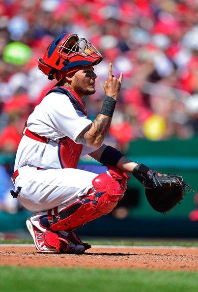 Photo of Yadier Molina Photos Photos: Cincinnati Reds v St Louis Cardinals