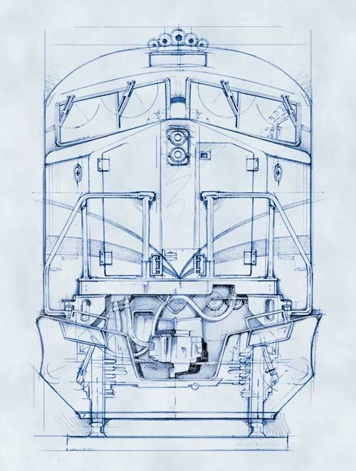 Blueprint style illustrations drawingsarchitectural blueprints blueprint style illustrations malvernweather Gallery