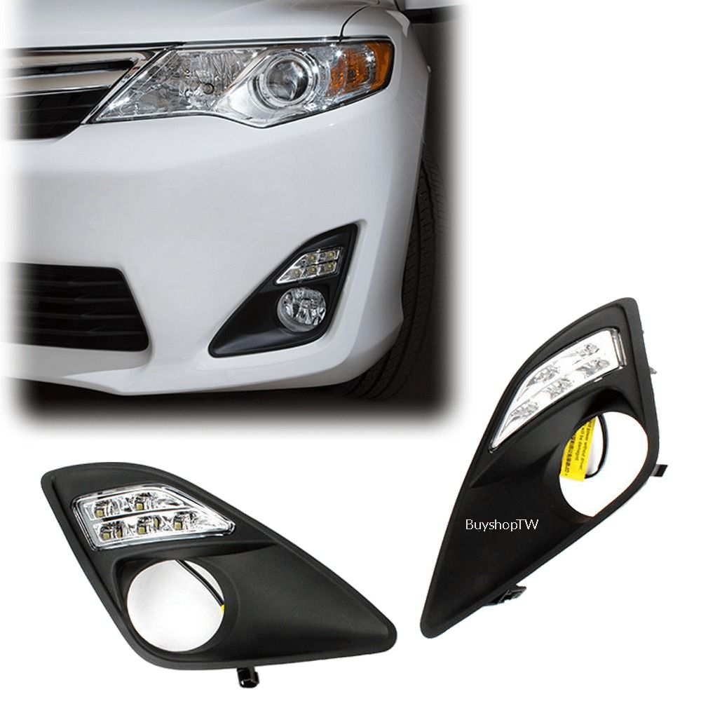 2012 2014 toyota camry bumper led daytime running lights drl le model am [ 1000 x 1000 Pixel ]