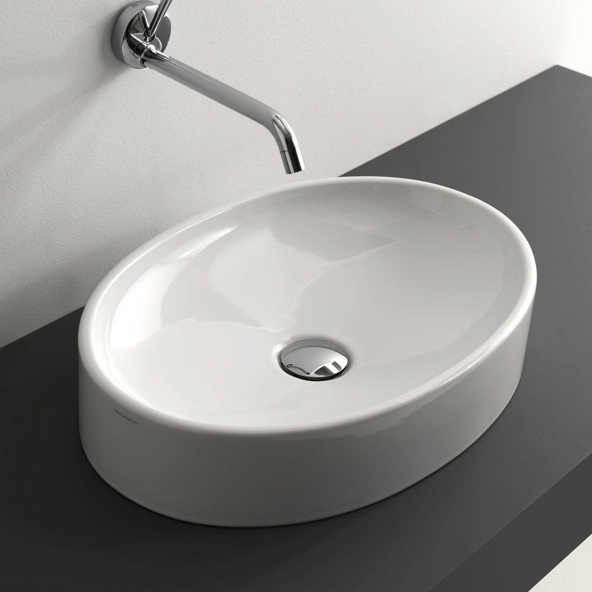 Ws Bath Collections Cento 3552 Vessel Bathroom Sink 19 7 X 13 8