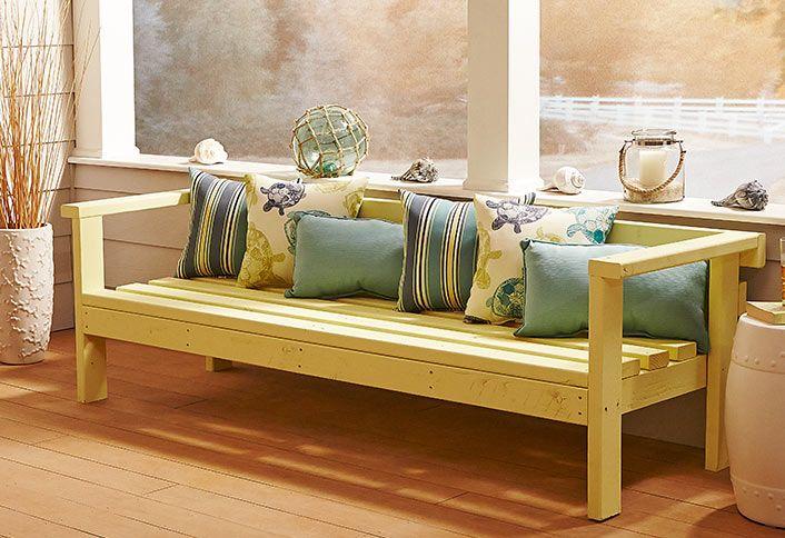 Build An Outdoor Sofa Outdoor Woodworking Projects Woodworking Furniture Woodworking Projects Table