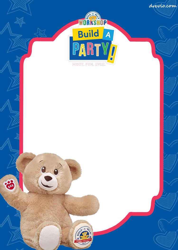 Free Build A Bear Birthday Invitation Template Build A Bear