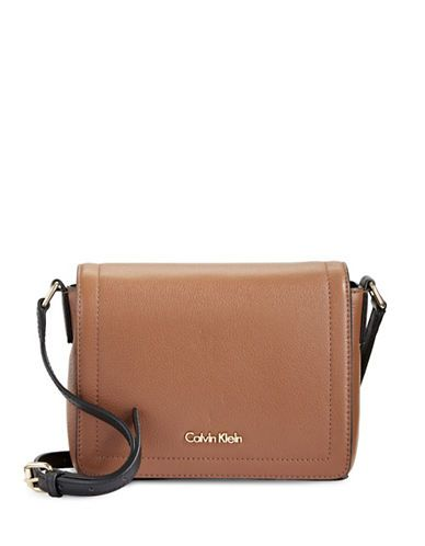 bda62ae6f240 CALVIN KLEIN Calvin Klein Pebbled Leather Crossbody Bag.  calvinklein  bags   shoulder bags  leather  polyester  crossbody  lining