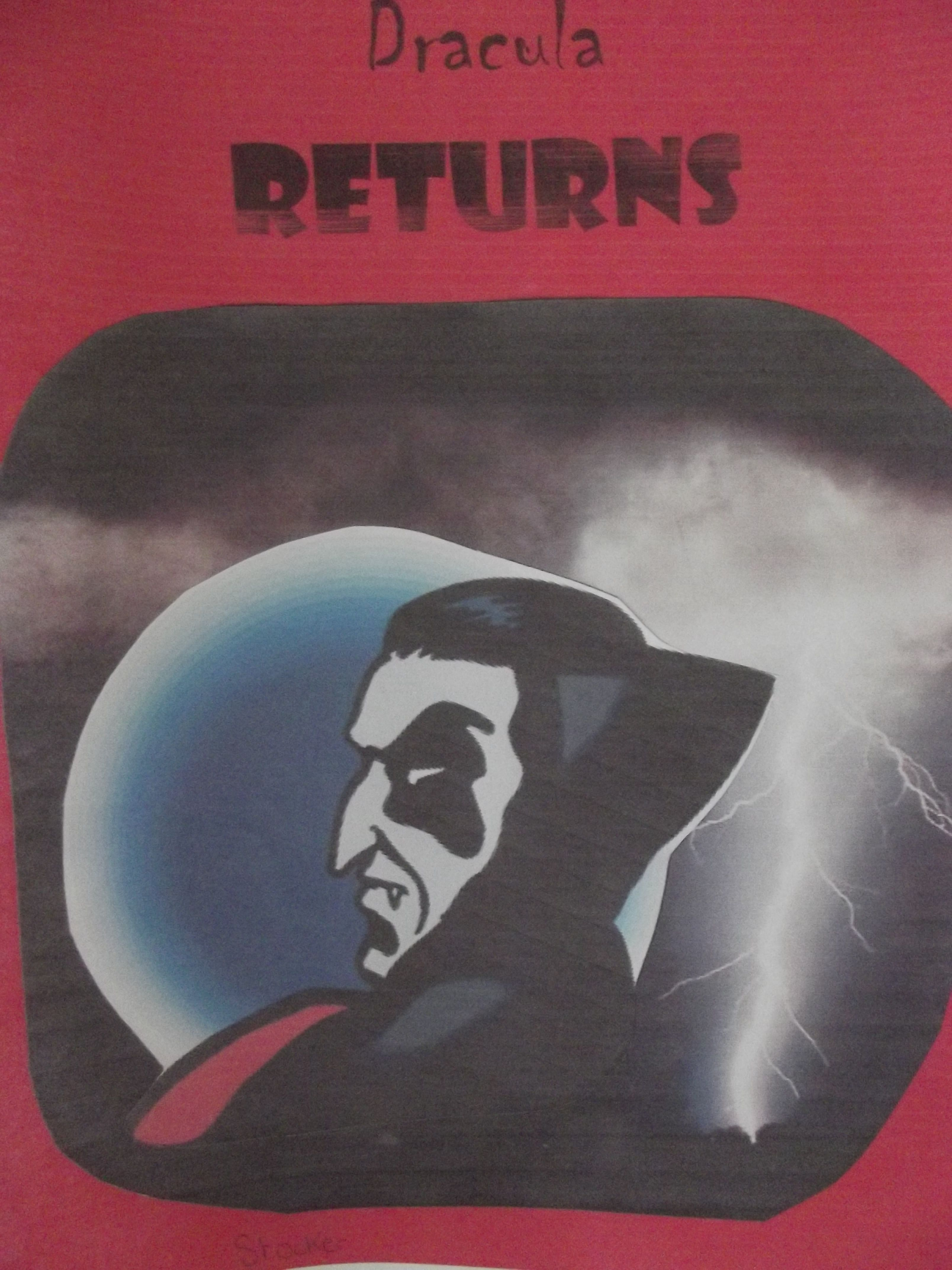 Poster design ks3 -  Dracula Returns A Powerful Front Cover Design From One Of Our Ks3 Students