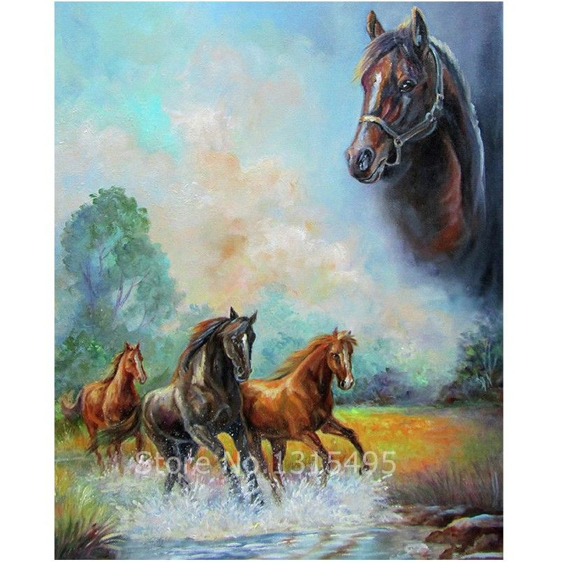 3d diamond pattern painting animals cross stitch diamond mosaic horse painting rhinestones bead embroidery horses kits  F102 #Affiliate