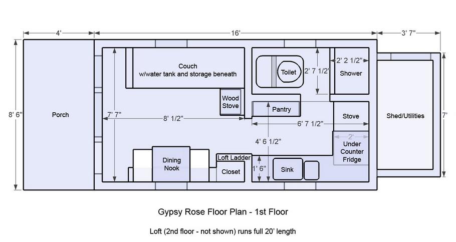 Sensational 17 Best Images About Tiny House Floorplans On Pinterest House Largest Home Design Picture Inspirations Pitcheantrous