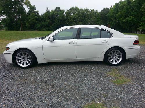 750li Bmw For Sale In North Carolina 2003 Bmw 745li Base Sedan 4 Door 4 4l White On Black Rare Us Bmw 745li Bmw Bmw For Sale