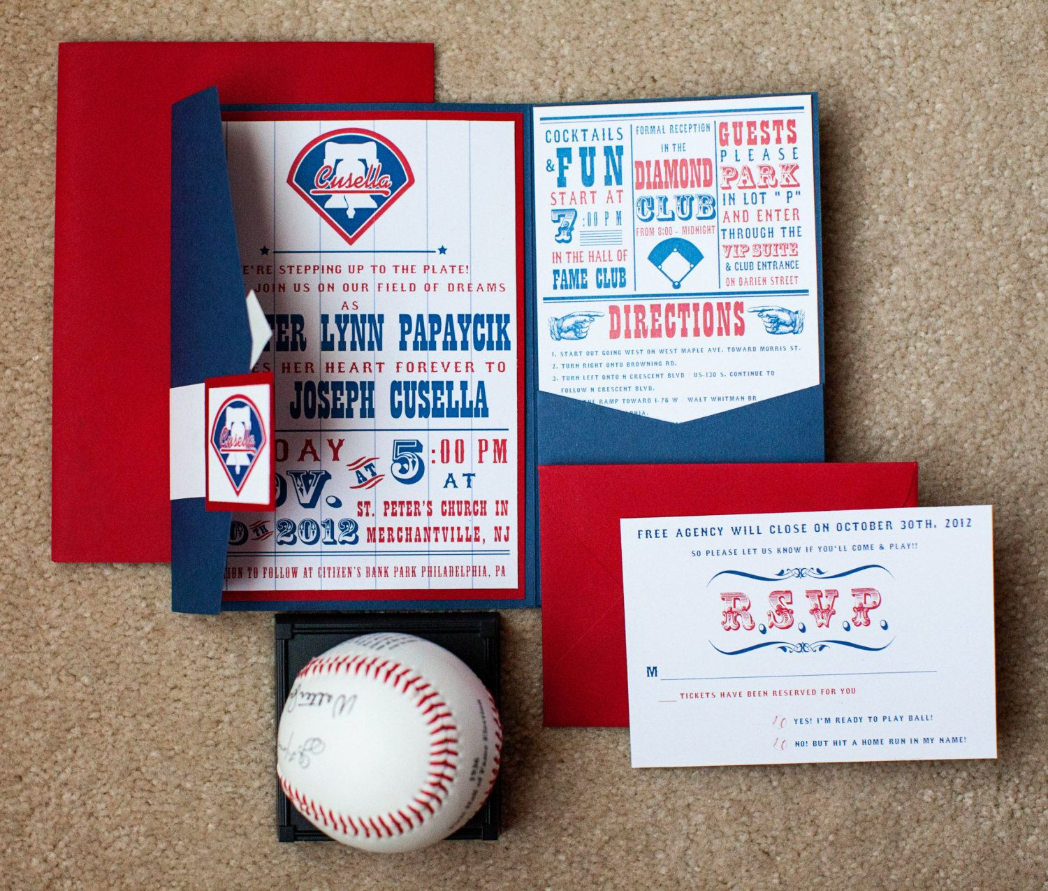 Baseball Wedding Invitation Sport Theme by WeddingMonograms | We are ...