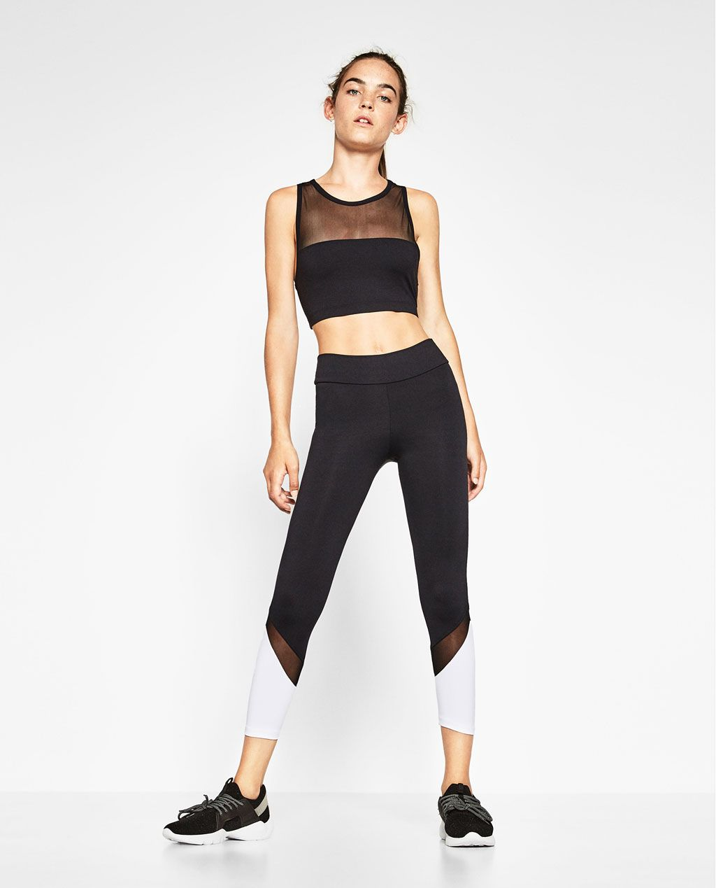 12846cd37c SEMI-TRANSPARENT SPORTS TOP-View all-GYMWEAR-WOMAN | ZARA United States