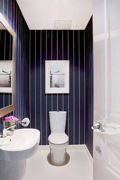 The Chicest Wallpaper Inspiration From Pinterest  Wallpaper Impressive Bathroom Bazaar Decorating Design