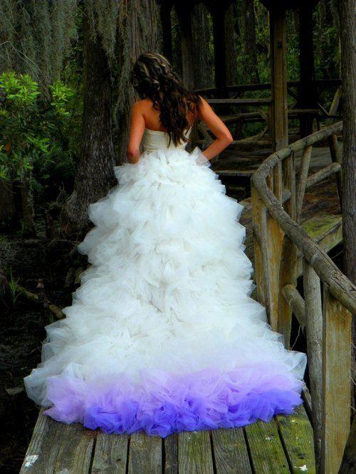 Rock A Colored Wedding Dress Dip Dye Wedding Dress Ombre