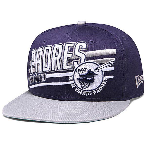 Men s San Diego Padres New Era Navy Gray Team Skew Hook 9FIFTY Adjustable  Hat 22f448bddad0