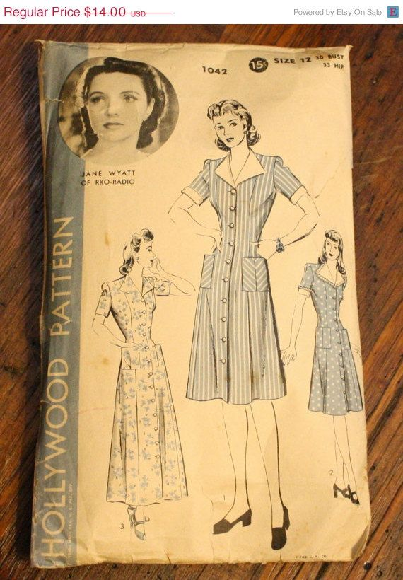 40 Off Pattern Sale Hollywood 1042 Dress by EleanorMeriwether, $8.40 ...