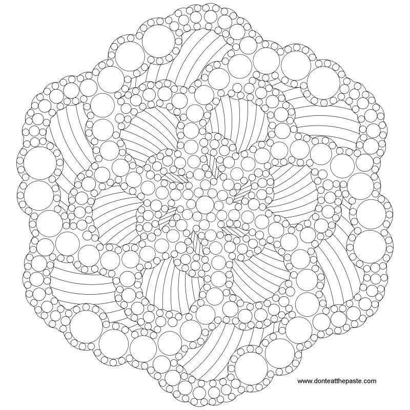 Dotted Mandala To Color Also Available In Transparent PNG Coloring Doodle