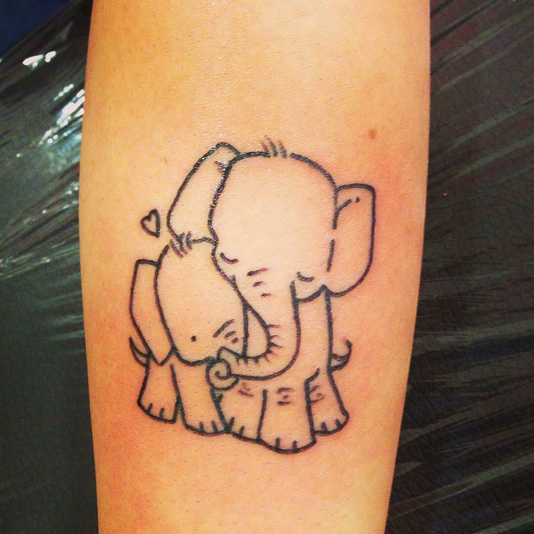 Cool simple tattoo ideas for guys great and cute tattoo credit  tattooanddreams   elephant