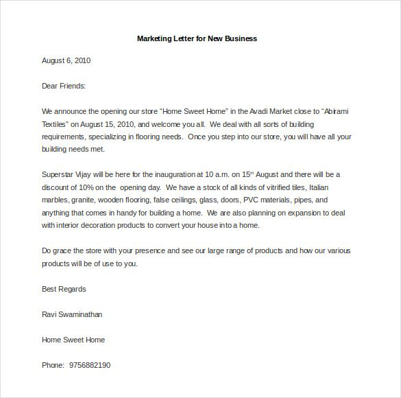 Image Result For Examples Of Marketing Letters To Clients