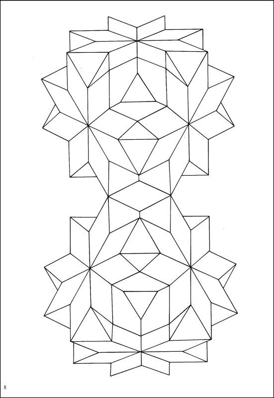 Geometric Star Designs Coloring Book (Creative Haven) | Pinterest ...