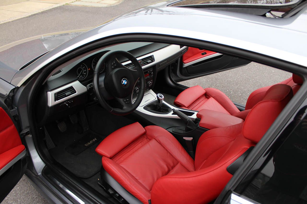 E92 E93 Official Space Gray E92 E93 335i Coupe Grey With Red Interior Silver Auto