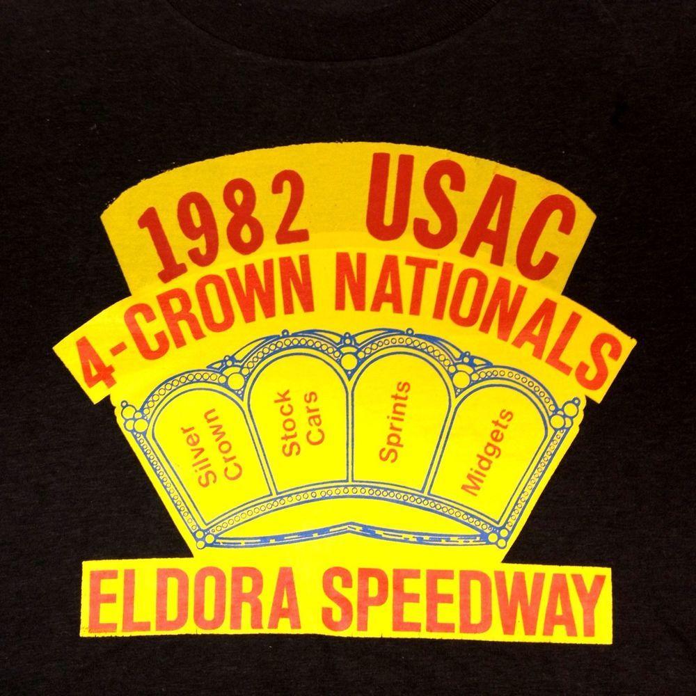 80's Vintage Eldora Speedway USAC 4-Crown Nationals T