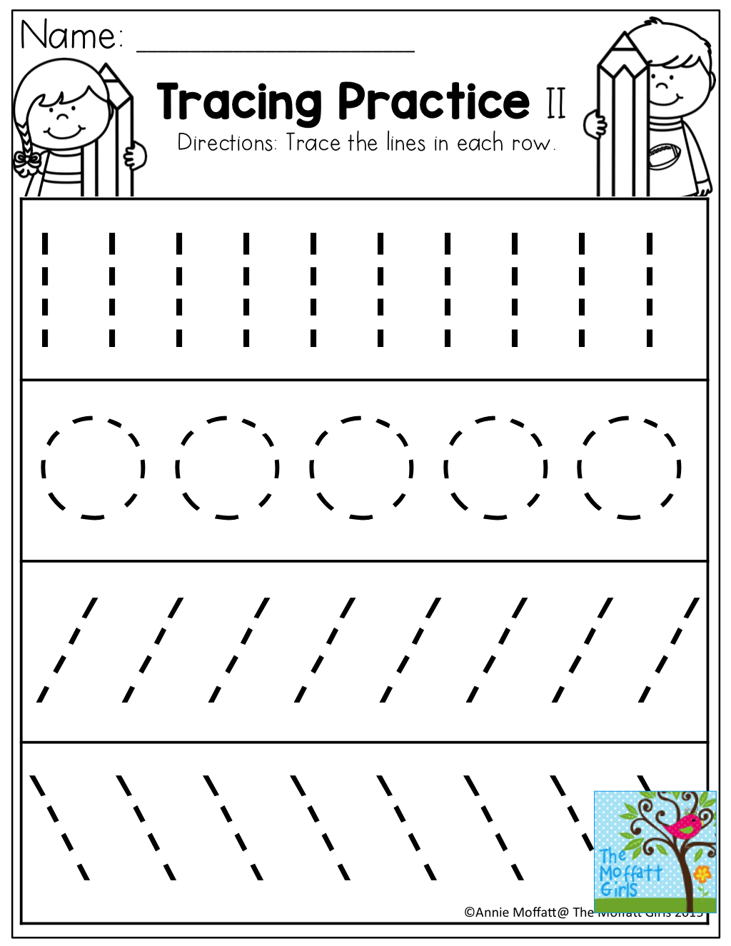 Tracing Lines Circles Writing