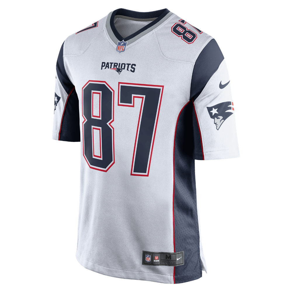 Nike Nfl New England Patriots Rob Gronkowski Men S Football Away Game Jersey Size Xl New England Patriots Game Nfl New England Patriots New England Patriots
