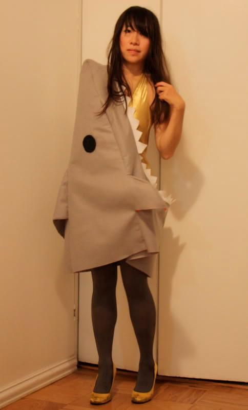 DIY Women Halloween Costumes  DIY Lucky Little Shark Happy Halloween because yes who doesnt want to be a shark  sc 1 st  Pinterest & DIY Women Halloween Costumes : DIY Lucky Little Shark: Happy ...