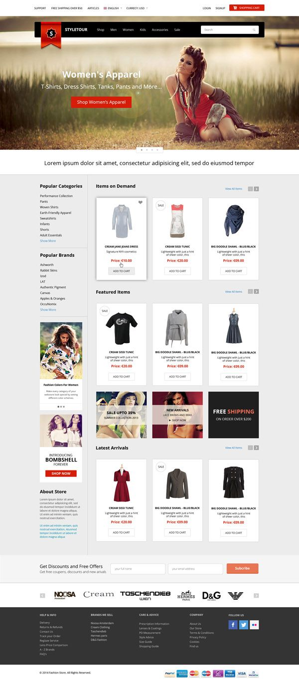 Bootstrap Fashion Store Psd Template Free Download Psd Template Free Templates Free Download Template Free