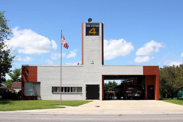 Fire Station Number 4 01 Fire Station Number Fire Architecture