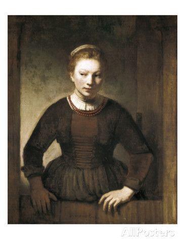 Young Woman at an Open Half-Door Prints by Rembrandt van Rijn at AllPosters.  sc 1 st  Pinterest & Young Woman at an Open Half-Door   Half doors Young women and Rembrandt