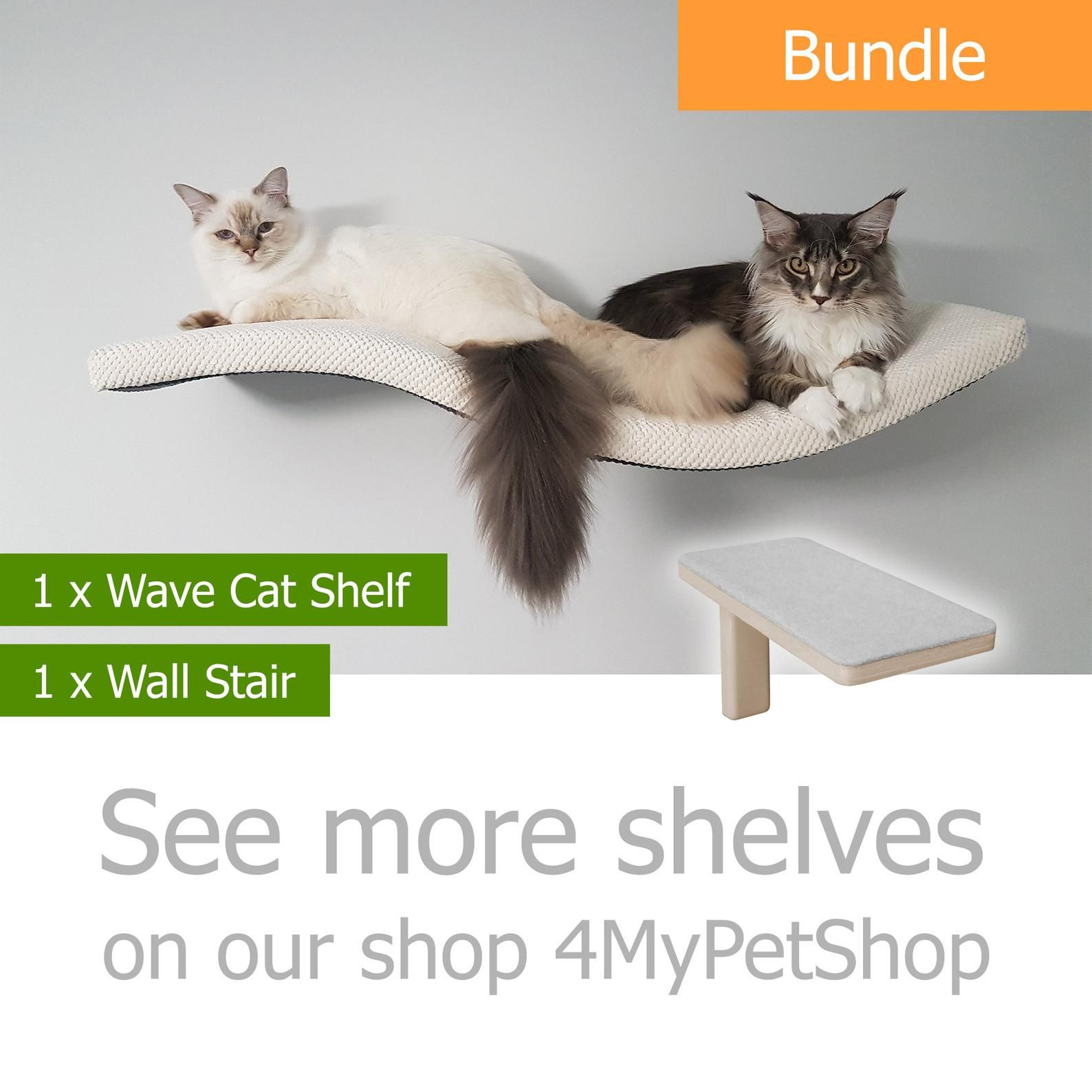 Wave 95 Ur Bundle 1 1 Cat Shelf Cat Shelves Cat Furniture Cat Bed Cat Wall Shelves Curved Cat Perch Wall Shelf Gift Kitten Cat Stair Step In 2020 Cat Shelves Cat