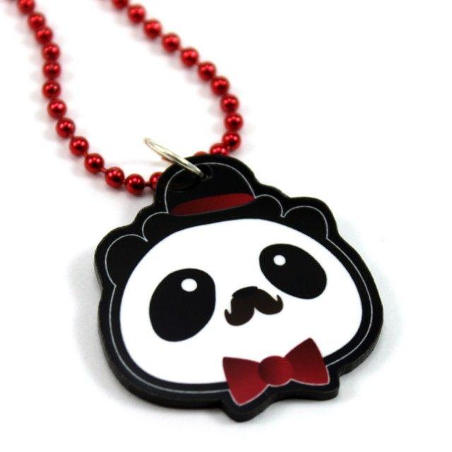 Winston Panda Necklace #panda #necklace #mustache