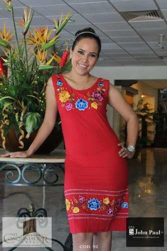 Vestido De Manta Mexicana En 2019 Vestidos Bordados Ropa