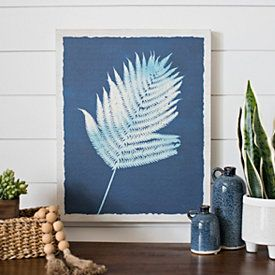 Navy Fern I Wood Art Print In 2020 Wood Art Wall Art Decor Art Prints